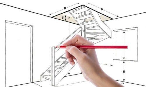 Рачет лестницы в частном доме