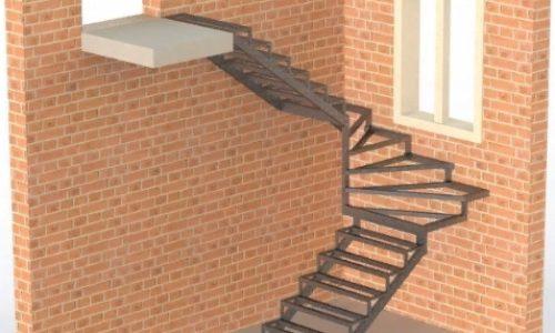Закрытого типа с забежными-поворотными ступенями