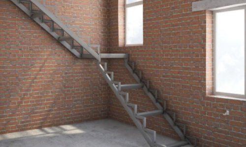 Лестница на прямых косоурах